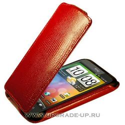 Чехол-книжка для HTC Incredible S/G11 Abilita красный варан 36