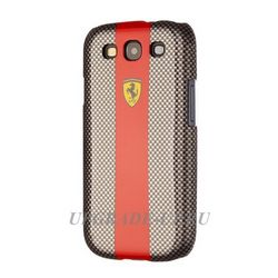 Чехол-накладка для Samsung Galaxy S3/i9300 Ferrari Hard Carbon Black/red str FECBS3RE 7